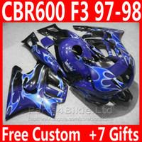 Wholesale Cbr F3 For Sale - Hot sale bodywork for Honda CBR 600 F3 fairing kit 1997 1998 blue white CBR600F3 fairings CBR600 F3 95 96 VG65