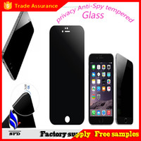 Wholesale Galaxy S4 Privacy - anti spy Privacy Explosion-proof Tempered Glass Screen Protector Film For Iphone 6 plus Galaxy S4 S5 S6 note 3 4 5 With Retail Package