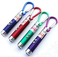 Wholesale Flashlight Keychains - LED Mini Flashlight Torch with Carabiner Key Chain Keychains laser pointer flashlight mini 3 in1 Key chain Lighting Emergency Keychain Money