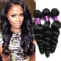 Wholesale peruvian curly virgin hair 6a for sale - Group buy Grade A Unprocessed Malaysian virgin hair Loose Curly virgin hair pc human weaves loose wave curly malaysian human hair weaves