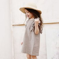 Wholesale Polka Dot Ruffle Baby - Big Kids Girls Polka Dots Ruffles Dresses 2015 Baby Girl Summer Cotton Dress Children's Korean Style Princess Clothing
