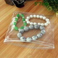 """Wholesale Clear Plastic Craft Jewelry Bags - 5*7cm (2.0*2.8"""") Clear PVC Plastic Zipper Packing Bag Jewelry Anti-oxidation Antioxidative Bag Ziplock Packaging Polybag Pouch For Craft"""