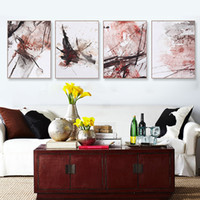 Wholesale Poster Art Deco - Abstract Chinese Ink Splash Canvas A4 Art Poster Print Wall Picture Painting No Frame Vintage Retro Living Room Home Deco