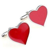 Wholesale Heart Shape Cufflinks - Wets valentine heart shape two color cufflinks cuff nail 155,912