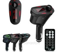Hot selling Random color Car Kit MP3 Mucsic Player Wireless FM Transmitter Radio Modulator With USB SD MMC+ Remote Control QP0026-30