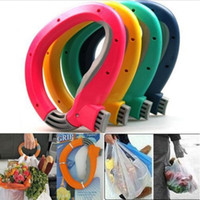 Wholesale One Trip Bag Holder - Home One Trip Grips for Shopping Grocery Bag Holder Handle hand folding Foldable bag Carrier Lock Kitchen Tool gift baskets