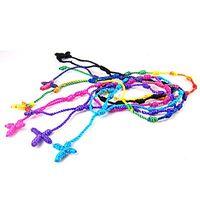 Wholesale Decenarios Bracelets - 24pcs Mix color Hand Made Knotted Rosary Bracelets - Pulseras Decenarios Material :Nylon Cord Size: Adjustable