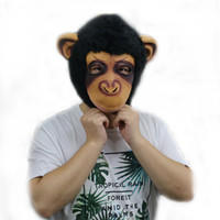 Wholesale Halloween Gorilla Mask - Unisex Funny Gorilla Mask Adult Full Head Latex Gorilla Cosplay Mask Halloween and Christmas Party Cosplay Helmet Props