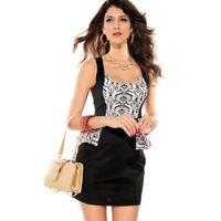 Wholesale Cheap Sexy Clubwear Dresses - 2014 Summer Top Sale Adela Fashion Mini Peplum Dress Sexy Clubwear OL Drop Shipping Cheap Price Dear Lover LC2728 Free Shipping