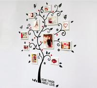 soy ağacı duvar kağıtları toptan satış-Oda Fotoğraf Çerçevesi Dekorasyon Aile Ağacı Duvar Çıkartması Sticker Poster üzerinde Bir Duvar Çıkartmaları Ağaç Duvar Kağıdı Çocuklar Photoframe Sanat