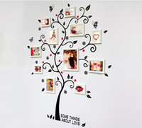 Wholesale Photo Frame Wall Stickers - Room Photo Frame Decoration Family Tree Wall Decal Sticker Poster on a Wall Stickers Tree Wallpaper Kids Photoframe Art