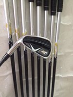 Wholesale Iron Man Left - left hand x2 hot irons 456789PAS Graphite Steel shaft 9PCS X2 hot golf Irons Come headcover