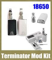 набор терминаторов оптовых-Электронные сигареты Механические комплекты модов 18650 Батарея Terminator Mod Starter Kit с перестраиваемой бутылкой Распылитель RDA TZ482