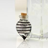 Wholesale Pet Cone - cone foil murano glass handmade murano glass miniature perfume bottles pet memorial jewelry ashes pendant pet memorial jewelry ashes pendant