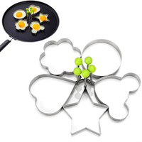 Wholesale Stainless Steel Egg Ring - New Fashion Egg Tools 5Pcs Set Stainless Steel Cute Shaped Fried Eggs Mold For Cooking Breakfast Frying Pan Oven Kitchen Tools