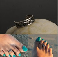 Wholesale Silver Rings For Feet - 2015 Hot womens mens adjustable Antique Silver Metal Toe Rings Foot Beach boby Jewelry for unisex