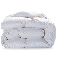 Atacado- Svetanya Winter Goose Down Duvet acolchoado Quilt king queen twin full size Comforter Blanket Doona White Cotton Bedding Filler