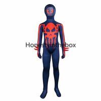ingrosso costumi del diavolo blu-Vendita calda 2017 Dark Blue Devil e Skull Printed Pattern Lycra Spandex completo Body Suit Zentai Costume per i bambini