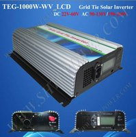 Wholesale Grid Tied Solar System - High quality CE ROHS 1000w dc 22-60v to ac 120v grid tie inverter for solar power system