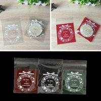 Wholesale Cello Self Adhesive Seal Bag - 100PCS Clear Green Red Christmas Snowflake Cookie Bag,Plastic Cellophane Self Adhesive Seal,Bakery Gift Cello Bags