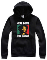 Wholesale online pullovers - Wholesale-Free Shipping Online Stock New Sale Reggae Skateboard Pilots Hoodies Bob Marley Printed Hoodies Pullover With Black Color