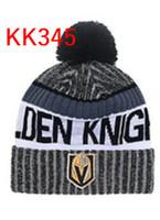 Wholesale Skull Knight - 2018 Golden Knights Beanies Winter Vegas High Quality Beanie Men Women Skull Caps Skullies Knit Cotton Hats Free Shipping