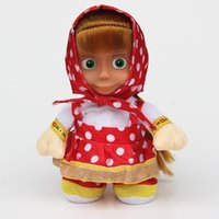 Wholesale Masha Music - 30pcs lot Masha sing song Russian music Masha and the Bear Dolls talking dancing Musical Doll Educational Baby Toys for Girls