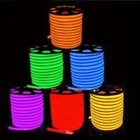 outdoor neon seil licht großhandel-freies Verschiffen 20m / lot 80led / M 110V 220V imprägniern geführtes Seil im Freien / Lichter / flexibler Neonstreifen / geführte Neonröhren