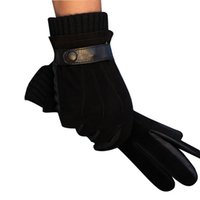 Wholesale Nappa Gloves - Wholesale-Men's Luxurious Nappa Leather Winter Super Warm Gloves Cashmere Lining Available Free Shipping