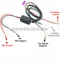 Wholesale Dimmer Relay - Auto CAR LED DAYTIME RUNNING LIGHT RELAY HARNESS DRL CONTROL DIMMER ON OFF 12V small order no tracking