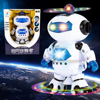 Wholesale Coolest Electronic Toys - 360 Rotating Children Electronic Walking Dancing Smart Space Robot Kids Cool Astronaut Model Music Light Toys Christmas Gift 2016 New hot