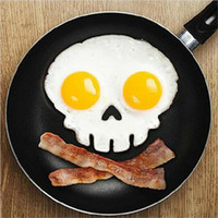 Wholesale Christmas Silicone Mold Wholesale - Cooked Fried egg Skull owl shaper silicone moulds egg ring silicone mold cooking tools christmas supplies Fried Egg Mold Pancake