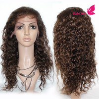 Wholesale Curly Hair Half Wigs Cheap - Brazilian Human Hair Wigs Unprocessed Cheap Curly Lace Front Wigs With Baby Hair African American Full Lace Wigs For Black Women