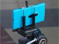 evrensel mobil monopod toptan satış-100 adet Ücretsiz Kargo Kamera Standı Klip Braketi Tutucu Monopod Tripod Cep Telefonu Evrensel Cep Telefonu için Montaj Adaptörü Klip Tutucu dağı
