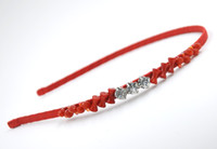 Wholesale White Coral Jewellery - Women Crystal Hair Accessories with Coral Rhinestone New Fashion Handmade Headband High Quality Hair Jewellery for Wholesale