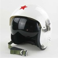 Wholesale Military Safety Helmets - Wholesale-military flight helmet dual visor half face Helmet for women men, motocross motorcycle MOTO electric bicycle safety headpiece