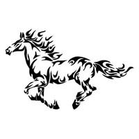 white horse autocollants achat en gros de-16.3 * 10.2cm feu flamme cheval cool autocollants de voiture styling autocollant personnalité voiture corps decal
