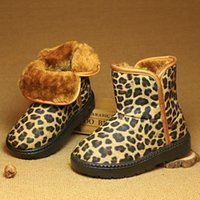 Wholesale Children Leopard Snow Boots - Children Boots PU Waterproof Leopard Winter Snow Boots For Boys Girls Fashion Kids Warm Shoes