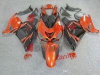 Wholesale Zx14r Custom Paint - Painted black and orange custom plastic injection molding fairing Kawasaki Ninja ZX14R 2006-2011 14