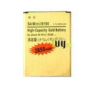 Wholesale galaxy s4 mini batteries - 2850mAh B500BE B500AE Gold Replacement Battery For Samsung Galaxy S4 mini S 4 IV Mini I9190 I9192 I9195 I9198 Batteries Batteria Batterij