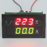 panel meter ac großhandel-Großhandel-2in1 AC Voltmeter Amperemeter AC110V 220V 80 ~ 300V / 100A Volt Amp Panel Meter Zwei-Farben-Display + Stromwandler