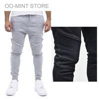 Wholesale Gray Pants Fashion - 1601 Fashion Biker Joggers Jogging Slim Fit Skinny Sweatpants Harem Pants Man Hip Hop Swag Clothes Clothing Men Gray Black Kanye West