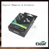 Wholesale voltmeter resistance - iSoka Eleaf Digital Ohm Meter Volt Meter ohm Reader Atomizer Resistance Tester Ohmmeter Voltmeter Via ePacket 100% Original