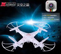 sistema controlador rc al por mayor-Helicóptero RC Syma X5C Quadcopter 2.4G 6 ejes UFO 2 Mega Pixel Drone con cámara y 360 grados de helicópteros de juguete LED Quadcopter A486L