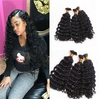 Wholesale 26 Inch Bulk Braiding Hair - Hair Bulks 3 Bundles Natural Black Burmese Human Bulks Hair For Braiding No Weft Top Grade FDshine Hair