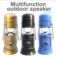 Wholesale Portable Solar Radio - New Portable Outdoor Bluetooth Speaker LED Camping Lantern Solar Collapsible Light for Camping Hiking Wireless Speakers TF Card FM Radio