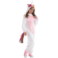 Wholesale Pajamas Teenage - SP Funworld Girl's Unicorn Onesie Pajamas Costume Detachable Colorful Tail Cute for Everyday Use and Party Occassions