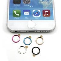 iphone tuş takımı toptan satış-Toptan-Attrctive Renkler Metal Alüminyum Ev Düğmesi Tuş Daire Sticker Çıkartmaları iPhone 6 için Perakende Kutusu Ile 4.7 '' Artı 5 Adet / grup