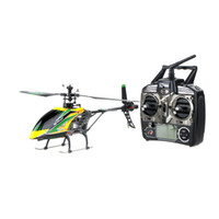 Wholesale Rc Transmitter Plane - 100% Original Wltoys V912 Large 4CH Single Blade RC Helicopter 2.4GHZ Radio System RC Plane with Mode 2 Transmitter