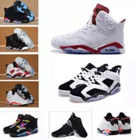 Wholesale Cat Bands - 2017 New Air retro 6 men women Basketball shoes black cat Carmine Infrared Angry bull sport blue Oreo Olympic Maroon WhiteInfared sneaker